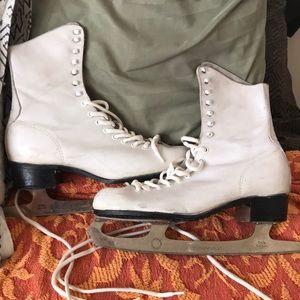Other - Vintage Antique Leather Ice Skates